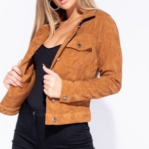 Jackets & Blazers - Corduroy button front jacket